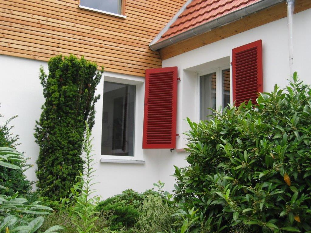 Eine von Firma Walter Becker überarbeitete Hausfassade