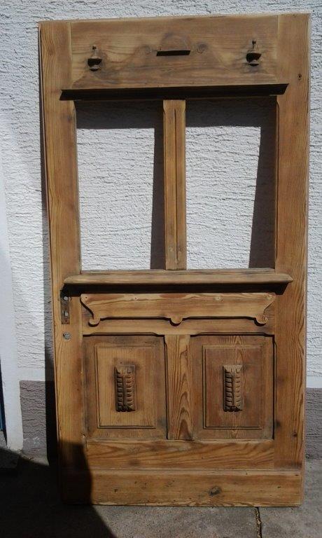 Haustür während Erneuerung durch den Schreinerbetrieb Walter Becker