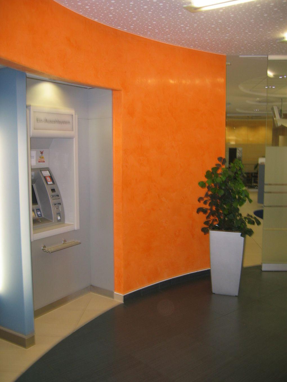 Trockenbau in den Geschäftsräumen einer Bank